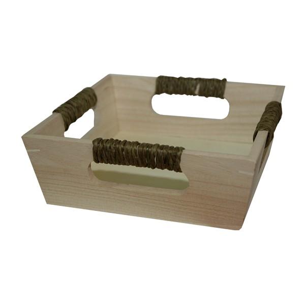 Cesta de madera cuadrada - Cestos de madera ...