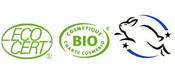 Productos con certificado Ecocert, Cosmetique Bio, no testado en animales