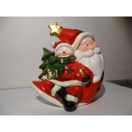 Portavelas cerámica Tealigth Papa Noel