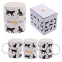 Taza de Porcelana I Love my Cat