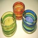 Portavelas Cristal Multicolor