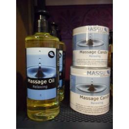 Aceite y vela masaje relax