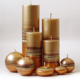 Vela tubo Metalizado Tonnet Oro-Bronce