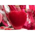 Vela Corazón Esmaltado Rojo