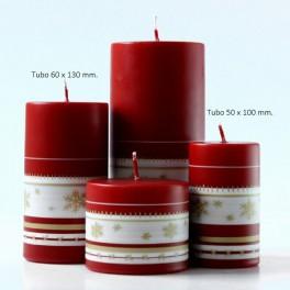 Velas Navidad Christmas Touch Rojo