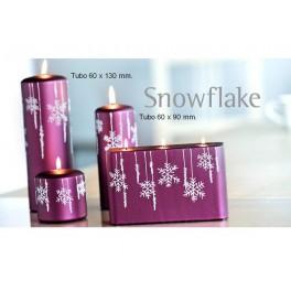 Velas Navidad Snowflake.